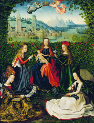 Master of the St. Lucy Legend - Virgin of the Rose Garden, between 1475 and 1480