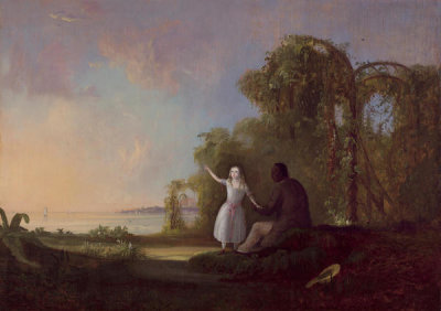 Robert S. Duncanson - Uncle Tom and Little Eva, 1853